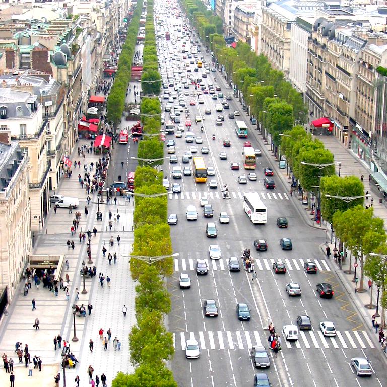 Champs Elysee von oben